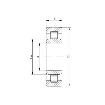 Ochoos NJ2217 E M Bearing NJ2217EM 42517EH Cylindrical Roller Bearing 8515036mm